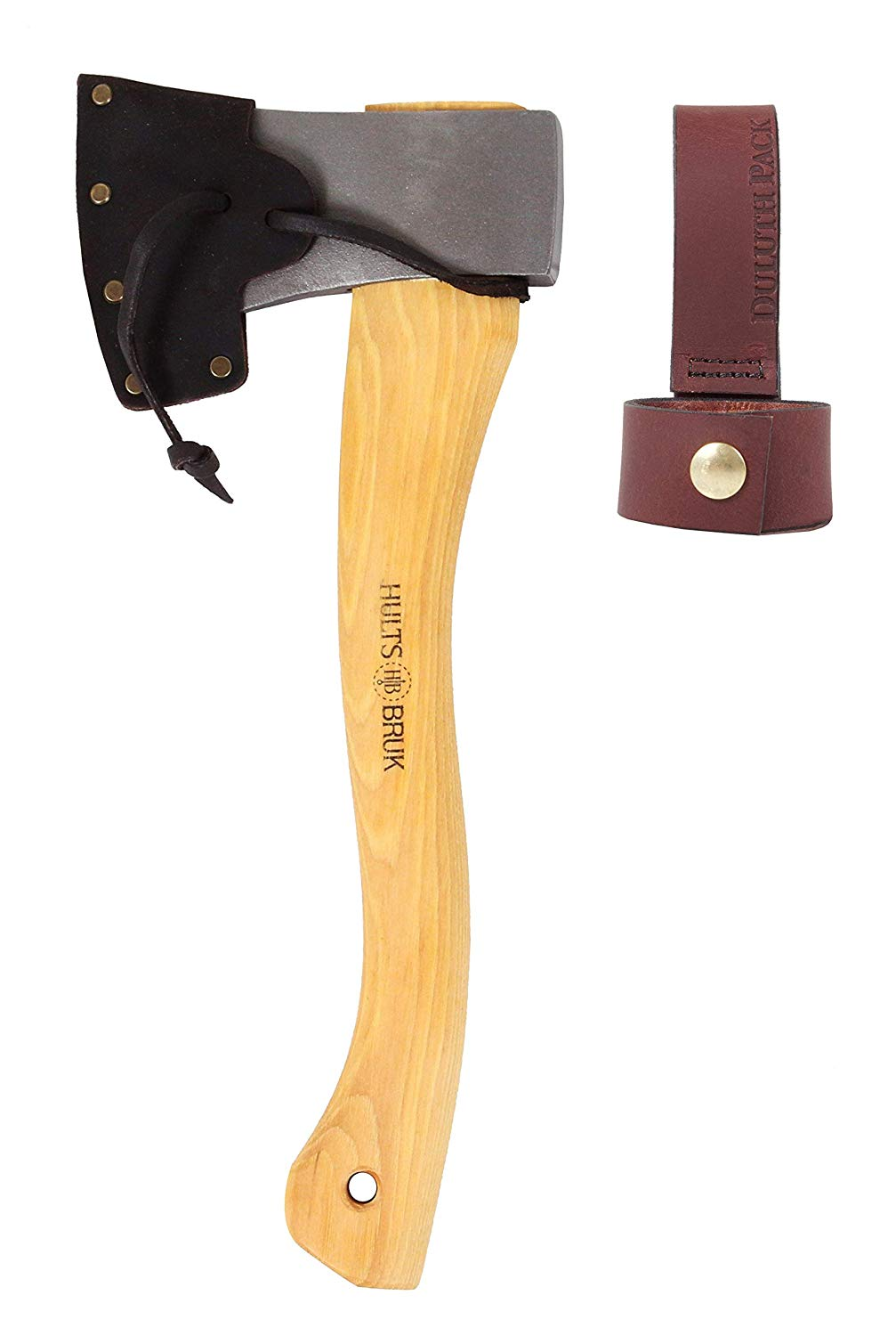 Hults Bruk Tarnaby Hatchet with Sheath and Duluth Pack Axe Holder Bundle