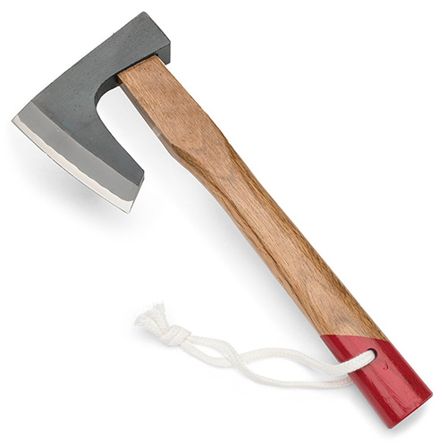 Japanese-Made Kindling Axe with Unique Bearded Design